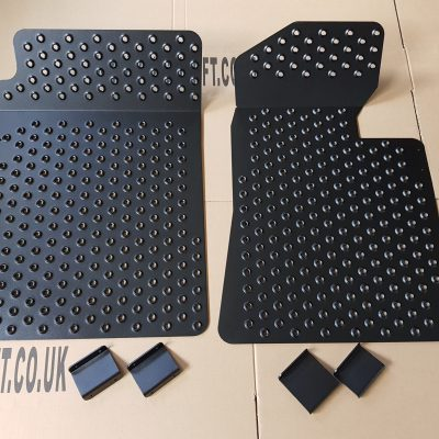 BMW E36 Aluminium Floor Plates Foot Plates Set